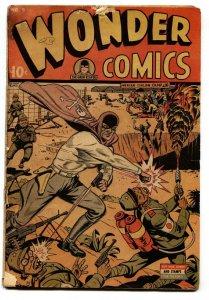 Wonder Comics #5 1945-Wild Grim Reaper-Flame Thrower-Prison Camp cvr WWII