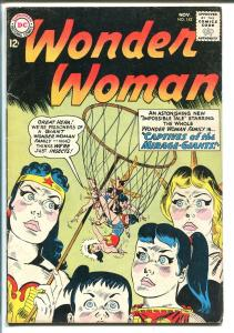 WONDER WOMAN #142 1963-DC COMICS-CLASSIC COVER-CAPTIVES-MIRAGE GIANTS-vg+