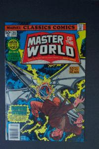 Marvel Classics Comics #21 Master of the World 1977