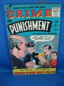 CRIME AND PUNISHMENT 72 VG+  LEV GLEASON 1955
