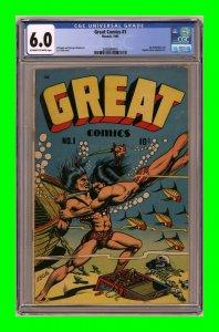 Great Comics #1 1945 Novack LB Cole cover CGC 6.0
