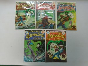 Adventure Comics lot 5 from #432-439 featuring Spectre avg 6.0 FN (1974-75)