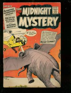 MIDNIGHT MYSTERY #3 1961-MYSTERY ELEPHANT-HORROR-SCI FI G-