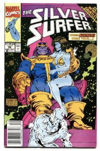 Silver Surfer #56 1991 Newsstand variant Infinity Gauntlet Thanos Marvel NM-