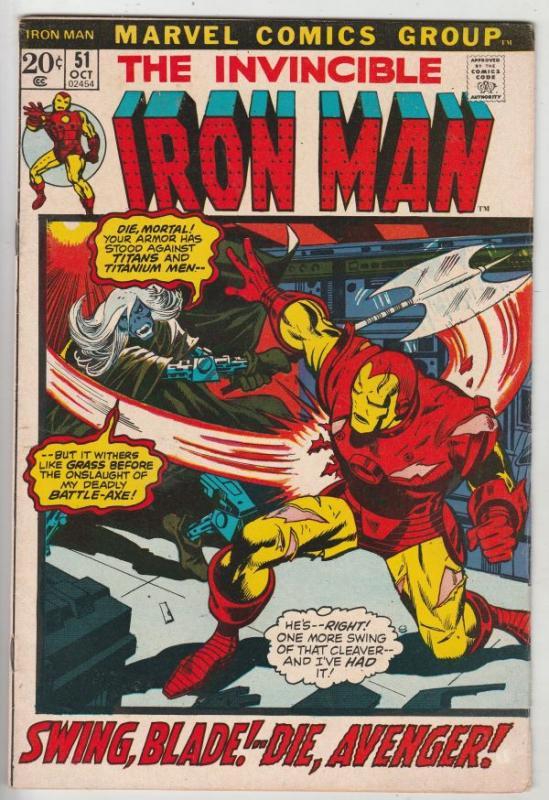Iron Man #51 (Oct-72) VF/NM High-Grade Iron Man