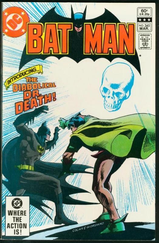 BATMAN #345-1982-DC VF