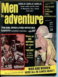 Men In Adventure 6/1968-Margaret Middleton cheesecake pix-pulp-Dodd art-FN