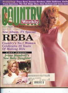 Country Weekly-Reba McEntire-Dolly Parton-Alan Jackson-Nov-1995