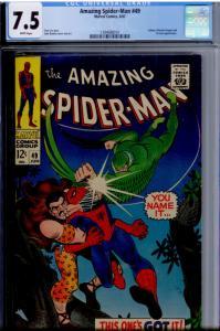 Amazing Spider-Man 49 CGC 7.5 WHITE, PERFECT CUT Vulture (Blackie Drago), Kraven