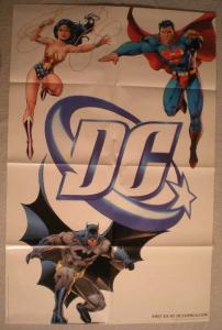 DC Promo Poster, WONDER WOMAN, BATMAN, 22x34, Unused, more Promos in store