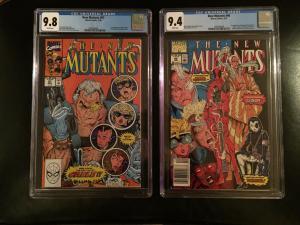 New Mutants 98 and 87 CGC 9.8, 9.4
