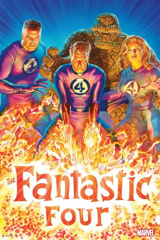 Fantastic Four 2018 Poster by Alex Ross (24 x 36) Rolled/New!