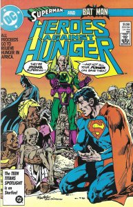 Heroes Against Hunger - '86 - one-shot for famine relief w/ Superman & Batman