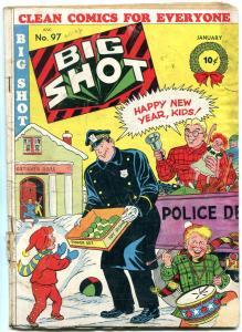 BIG SHOT COMICS #97 '49-SPARKY WATTS-FLYING DISKS ISSUE G/VG