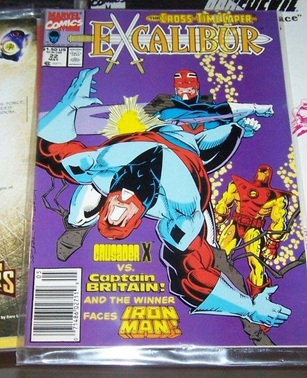 Excalibur #22 (Jun 1990, Marvel) PSYLOCKE CAPTAIN BRITAIN NIGHTCRAWLER XMEN