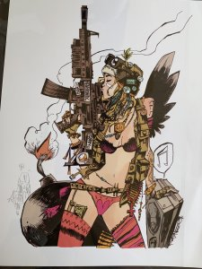 TANK GIRL Print SIGNED & REMARKED by Jim Mahfood