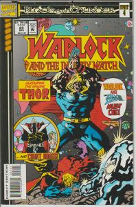 WARLOCK AND THE INFINITY WATCH #23 - THOR - MARVEL - BAGGED & BOARDED