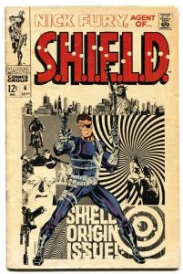NICK FURY, AGENT OF SHIELD #4 comic book 1968- Marvel Steranko