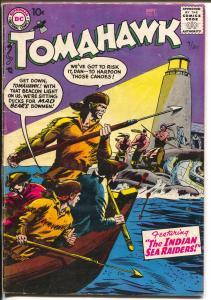 Tomahawk #51 1957-DC-Indians-light  house-Indian Sea Raiders-VG+