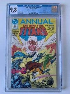 New Teen Titans #2 (1986 - DC Comics) Origin of Brother Blood - CGC 9.8