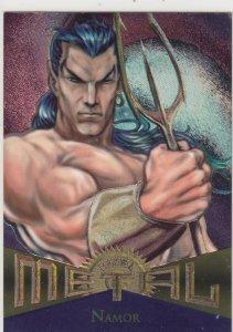 1995 Fleer Marvel Metal NAMOR #37  Card
