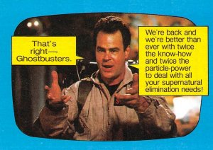 1989 Topps Ghostbusters #37 That's Right Ghostbusters, Were Back!