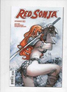 RED SONJA #24 B, NM-, She-Devil, Vol 4, Moritat, 2017 2018, more RS in store