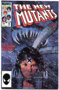 NEW MUTANTS #18-First appearance of WARLOCK 1984 Marvel!!