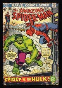 Amazing Spider-Man #119 VG/FN 5.0 Vs Incredible Hulk!