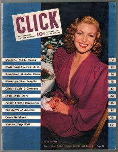 Click 10/1941-Lana Turner cover-cartoons-pin-ups-FDR-stockings-crime-FN+