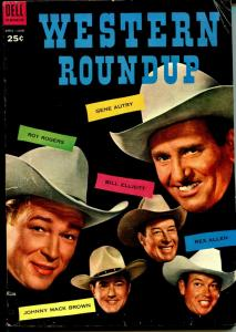 Western Roundup #6 1954-Dell Giant Edition-Roy Rogers-Gene Autry-VG