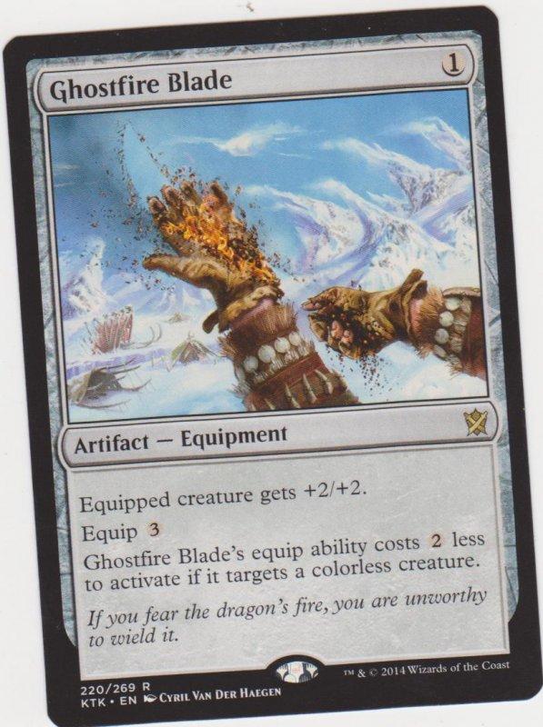 Magic the Gathering: Khans of Tarkir - Ghostfire Blade