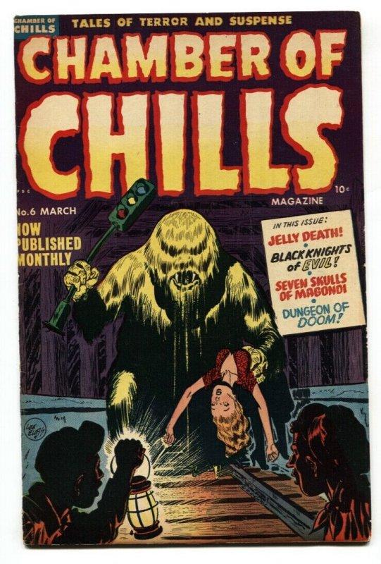 CHAMBERS OF CHILLS #6-Pre-code horror-GGA-JELLY MONSTER