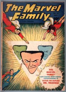 MARVEL FAMILY #15-1947-FAWCETT-CAPTAIN MARVEL-golden age comic-VG minus VG-