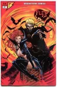 FLESH & BLOOD #1, VF/NM, Jim Balent, Vampires, Brainstorm,1995, more JB in s