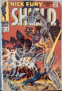 Nick Fury, Agent of SHIELD #2 (1968) LOW GRADE