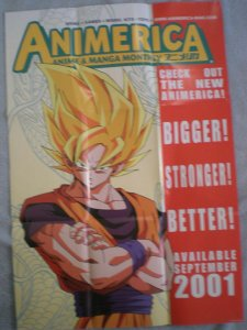 ANIMERICA Promo poster, Manga, Anime, 2001, Unused, more in our store