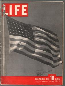Life 12/22/1941-Remember Pearl Harbor-American Flag-WWII issue-VG