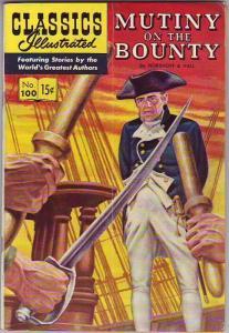 Classics Illustrated #100 (Oct-52) VG/FN- Mid-Grade Mr. Christian, Captain Blye