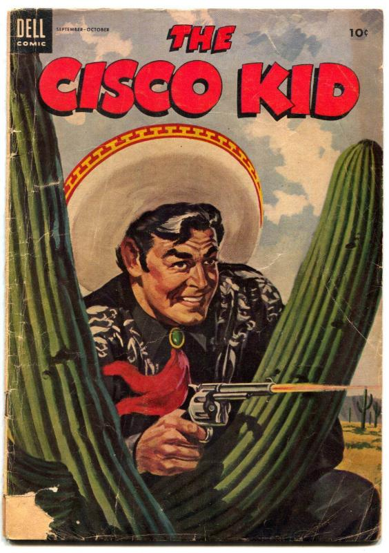 Cisco Kid 23 1954 Dell Western Cactus Cover G VG