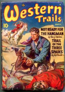 Western Trails Pulp March 1942 BRUTAL NORMAN SAUNDERS coverE VG/FN