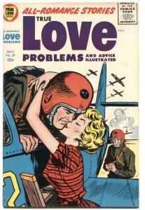 TRUE LOVE PROBLEMS #39-1956-JET PILOT COVER-BOB POWELL ART  F/VF   RARE