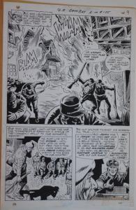 ROSS ANDRU / MIKE ESPOSITO original art, G I COMBAT #135, pg 9, 11x16, 1969