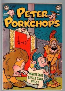 PETER PORKCHOPS #15-DC-1952-FUNNY ANIMAL-GOLDEN AGE FN/VF
