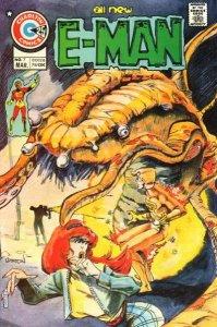 E-Man (1973 series) #7, Fine- (Stock photo)