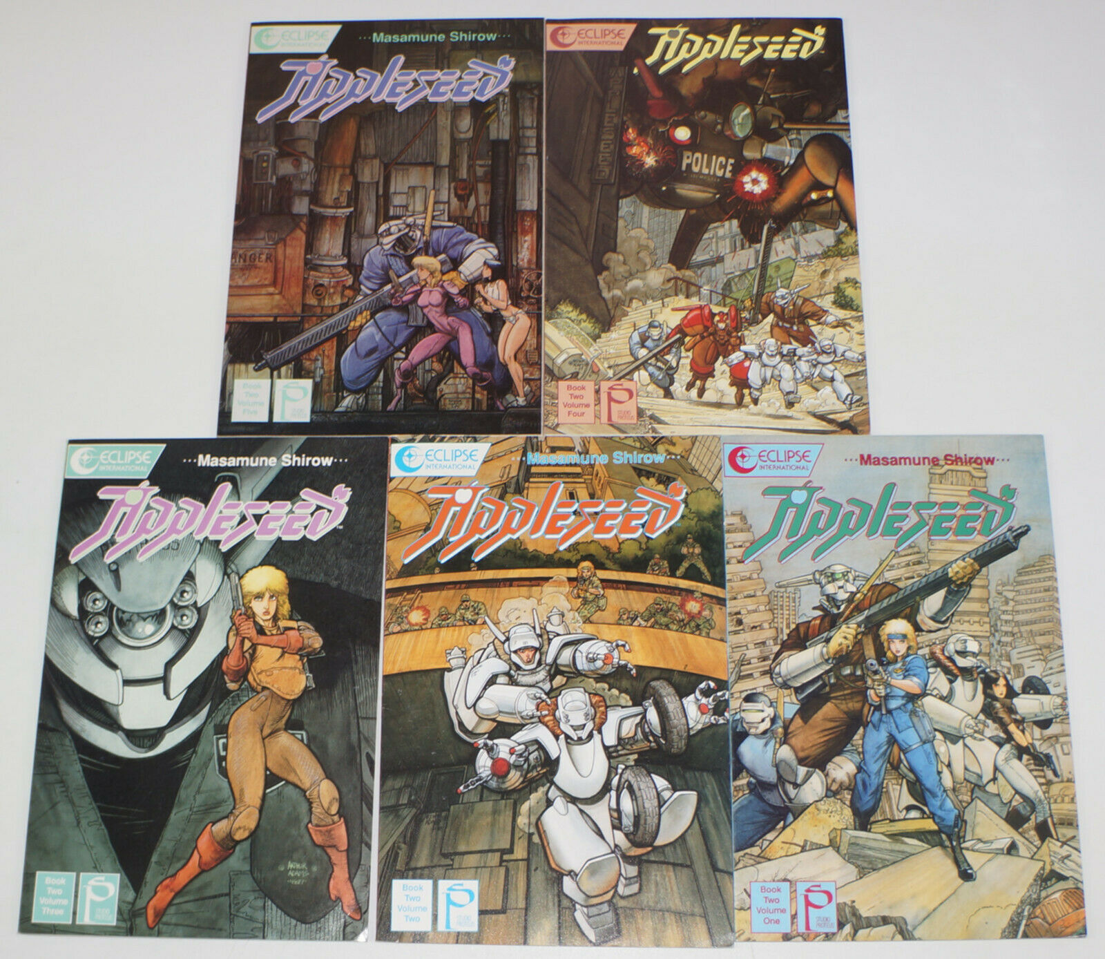 Appleseed Book Two 1 5 Vf Nm Complete Series Masamune Shirow Studio Proteus Ii Hipcomic