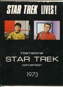 International Star Trek Convention Program Book-1973-full page pix-con schedu...