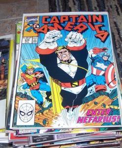 Captain America comic # 379 (Nov 1990, Marvel) nefarius quasar avengers