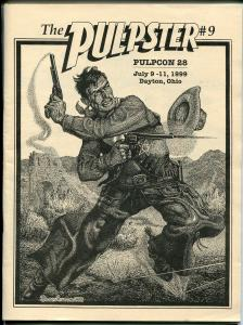 Pulpster #9 1999-PulpCon 28 Program Book-Pete Rice cover-pulp info-FN
