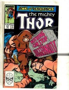 Mighty Thor # 411 NM- Marvel Comic Book Juggernaut New Warriors 1st Appear BJ1